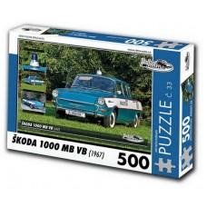 PUZZLE ŠKODA 1000 MB VB (1967) 500 dílků
