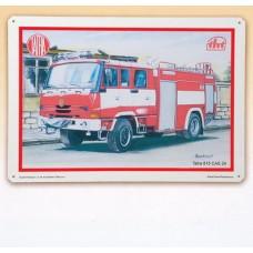 Plechová tabule Tatra hasič