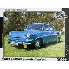 PUZZLE ŠKODA 1000 MB (1966) 40 dílků